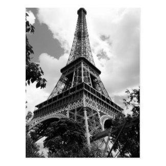 Tour Eiffel blanc noir à Paris Carte Postale