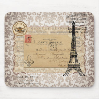 Tour Eiffel chic minable vintage de Paris Tapis De Souris