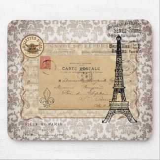 Tour Eiffel chic minable vintage de Paris Tapis De Souris