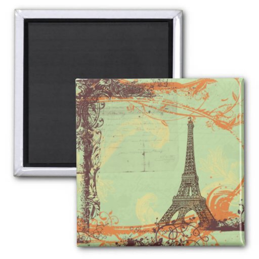 Tour Eiffel dans l'aimant vert
