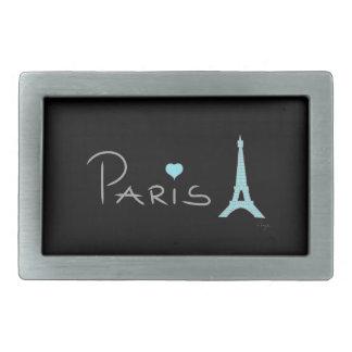 Tour Eiffel de coeur de Paris Boucles De Ceinture Rectangulaires