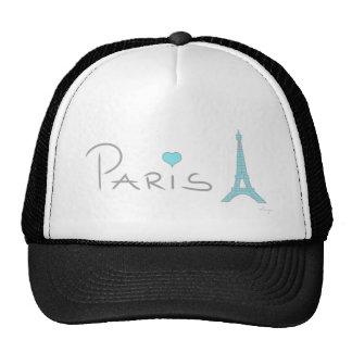 Tour Eiffel de coeur de Paris Casquette De Camionneur