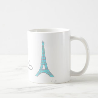 Tour Eiffel de coeur de Paris Mug Blanc