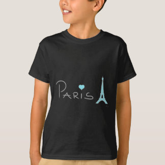 Tour Eiffel de coeur de Paris T-shirt