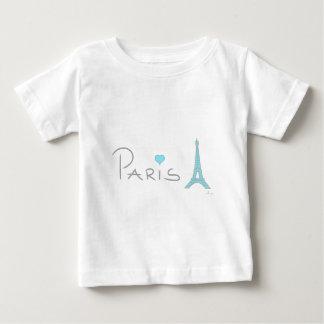 Tour Eiffel de coeur de Paris T-shirt Pour Bébé
