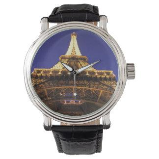 Tour Eiffel de la FRANCE, Paris, égalisant la vue Montres Bracelet