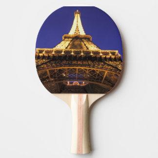 Tour Eiffel de la FRANCE, Paris, égalisant la vue Raquette De Ping Pong