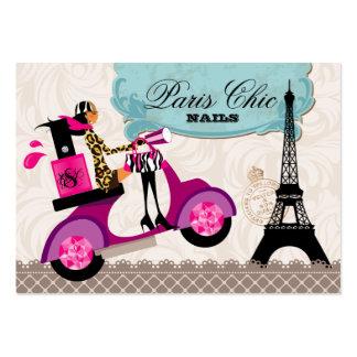 Tour Eiffel de Paris de scooter de polonais de sal Cartes De Visite Professionnelles