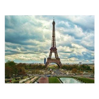 Tour Eiffel dramatique Carte Postale