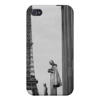 Tour Eiffel est un trellis du 19ème siècle de fer Coques iPhone 4