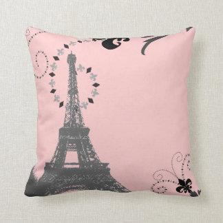 Tour Eiffel français chic girly de Paris de pays Coussin