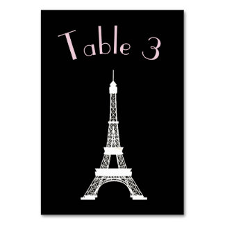 Tour Eiffel français noir et blanc chic de style