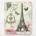 Tour Eiffel français vintage moderne Tapis De Souris
