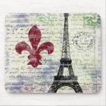 Tour Eiffel France Mousepad Tapis De Souris