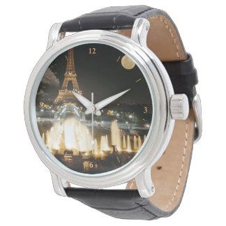 Tour Eiffel la nuit Montres Bracelet