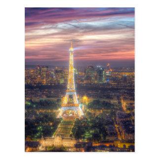 Tour Eiffel la nuit, Paris France Carte Postale
