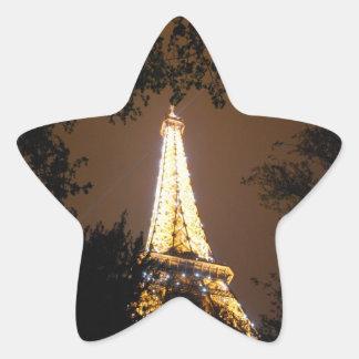 Tour Eiffel la nuit Sticker Étoile