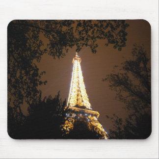 Tour Eiffel la nuit Tapis De Souris