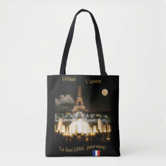 Tour Eiffel la nuit Tote Bag