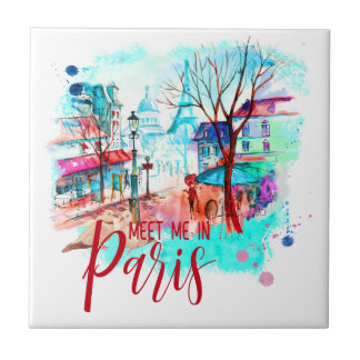 Tour Eiffel me rencontrent dans l'éclaboussure Petit Carreau Carré
