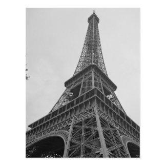 Tour Eiffel noir et blanc à Paris Carte Postale