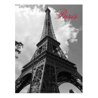 Tour Eiffel noir et blanc à Paris Cartes Postales