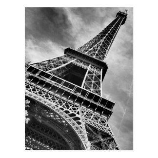 Tour Eiffel noir et blanc Paris Carte Postale
