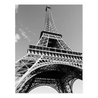 Tour Eiffel noir et blanc Paris France Cartes Postales