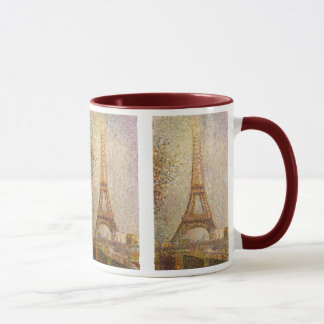 Tour Eiffel par Georges Seurat, beaux-arts Tasses