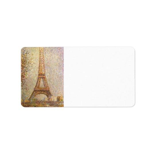 Tour Eiffel par Georges Seurat Étiquettes D'adresse