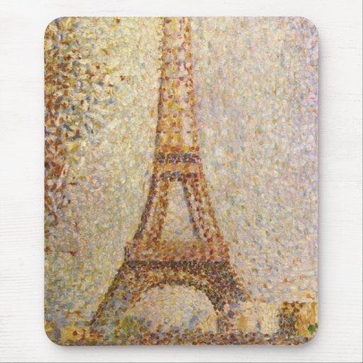 tour eiffel par seurat art vintage de pointillism tapis de souris zazzle. Black Bedroom Furniture Sets. Home Design Ideas