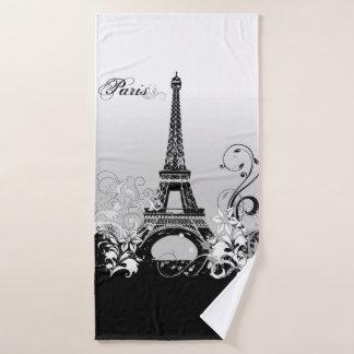 Tour Eiffel Paris (B/W) serviette de Bath
