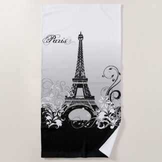 Tour Eiffel Paris (B/W) serviette de plage