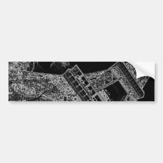 Tour Eiffel Paris d'art de bruit Autocollant Pour Voiture