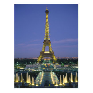 Tour Eiffel, Paris, France 2 Cartes Postales