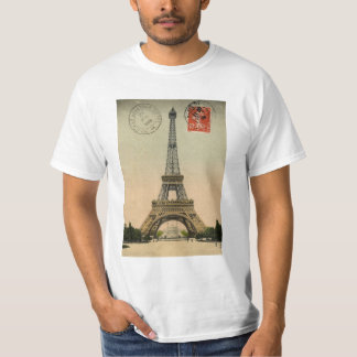 Tour Eiffel, Paris, France, cru rétro T-shirt