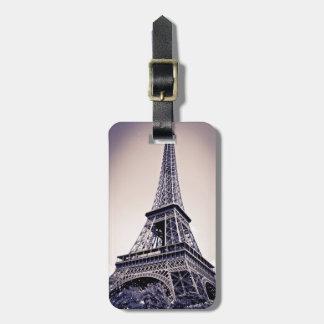Tour Eiffel, Paris, France Étiquette Pour Bagages