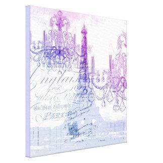 Tour Eiffel pourpre français chic de Paris de Toile