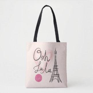 Tour Eiffel tiré par la main Tote Bag