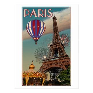 Tour Eiffel vintage Carte Postale