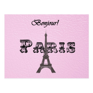 Tour Eiffel vintage de Paris Bonjour Cartes Postales