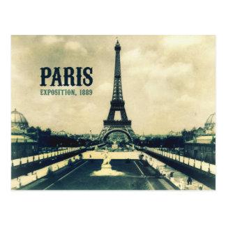 Tour Eiffel vintage, Paris, 1889 Carte Postale