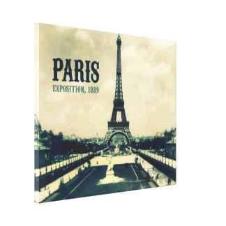 Tour Eiffel vintage, Paris, 1889 Toiles