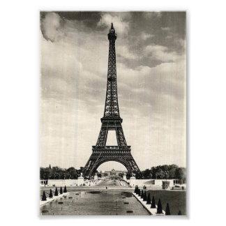 Tour Eiffel vintage Paris Tirage Photo
