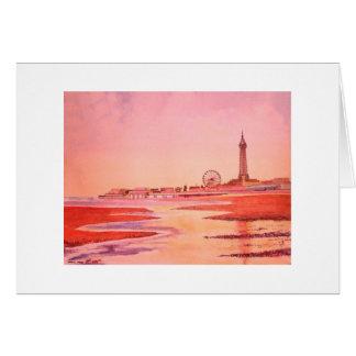 Tour et bord de mer de Blackpool Carte De Vœux
