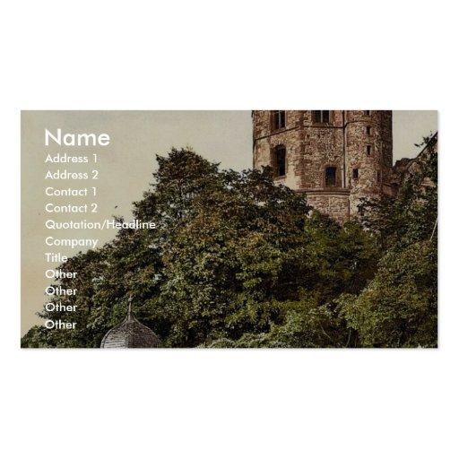 Tour et terrasse octogonales, Heidelberg, Baden, G Cartes De Visite Personnelles
