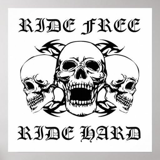 Tour gratuit de tour dur trois crânes poster