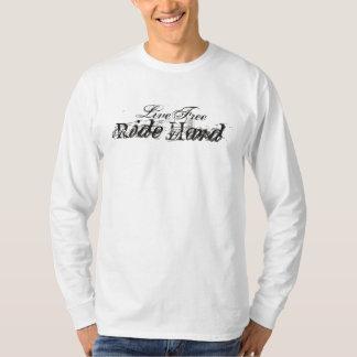 Tour gratuit vivant dur t-shirts