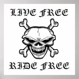 Tour gratuit vivant libèrent le crâne