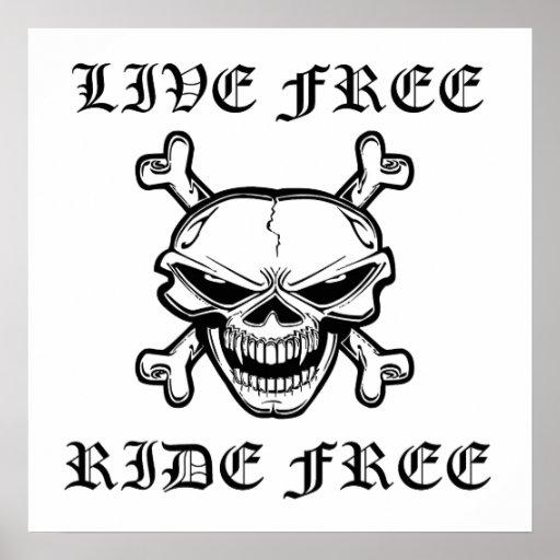 Tour gratuit vivant libèrent le crâne posters